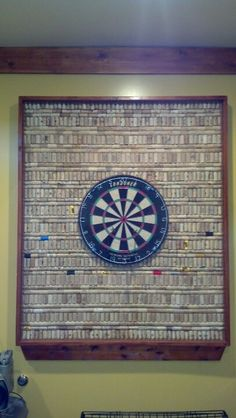 Cork Board For Dartboard Background Basement