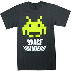 Space Invaders 1978 Video Game Japanese Writting Adult T Shirt