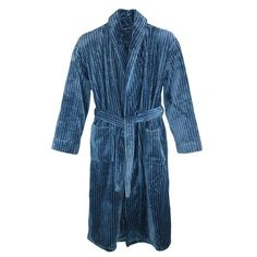 This exceptionally soft robe will wrap you with luxury. The long sleeve robe features a stylish shawl collar and convenient patch pockets. The matching sash keeps the robe securely closed. Whether you are stepping out of the shower or lounging around on the weekend, this robe will keep you warm and comfortable.