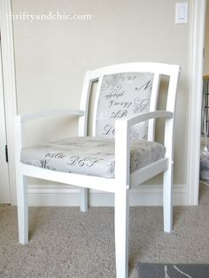 recovered salvaged chair.... they sure make it look easy.........