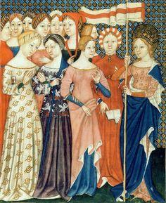 Medieval Costume, Medieval Dress, Medieval Clothing, Medieval Life, Medieval Art, Historical Costume, Historical Clothing, 14th Century Clothing, Italian Paintings
