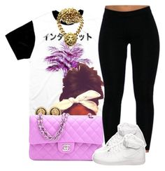 """""""OFTD 05.26.2014 Air Force + Chanel ~ Brianna"""" by vintagetrillbrat ❤ liked on Polyvore featuring Chanel and NIKE"""