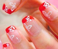 nail-art red