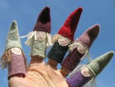 Fingers puppets are another way that children and/or educators can re-enact stories. Children can help create and decorate the puppets.