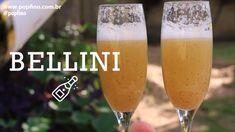 Champagne, Drinks, Tableware, Bellini Recipe, Peach Juice, Champagne Glasses, Frozen Drinks, Recipes, Meals
