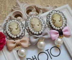 ArtSpring手工发头饰品蝴蝶结可爱美人头珍珠坠发夹顶夹边夹