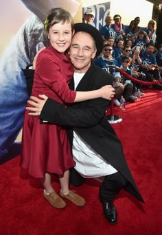 "Ruby Barnhill who plays ""Sophie"" in ""The BFG"" and Academy Award Winner Mark Rylance who plays ""The Big Friendly Giant"" attend the U.S. premiere of ""The BFG"" 