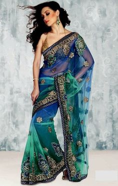 peacock saree | GOLDEN PEACOCK SAREE : AVANA GARMENTS