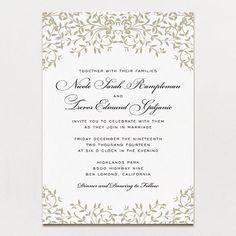 Gothic Forest Modern Wedding Invitation | Printable Press