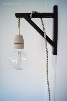 FINGERFABRIK: DIY: Cable lamp tutorial * Kabel Lampe selber bauen