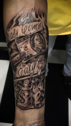 Money Bag Tattoos For Men