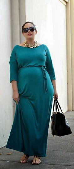 Gorgeous maternity & plus size long dress fashion