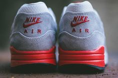 "Nike Air Max 1 Premium ""Grey & Light Crimson"""
