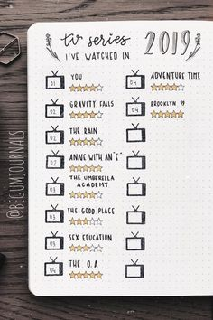 best bullet journal tracker ideas for TV shows and netflix! Need to keep track of all those Netflix episodes and shows you've been watching? Check out these tv show tracker ideas to keep it all organized! Bullet Journal Tracker, April Bullet Journal, Bullet Journal Notebook, Bullet Journal Spread, Bullet Journal Inspiration, Book Journal, Books To Read Bullet Journal, Bullet Journal Cover Page, Bullet Journal Workout