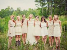 Bridesmaids with their boots
