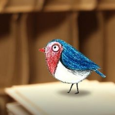 Anxie's little bird #sketch #illustration #art #instaart #instaartist #drawing #handdrawn #ohdeer #animation #characterdesign #littlebird #blue #colorpencil