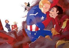 The Avengers : Steve/Tony by ~kcy2292 on deviantART
