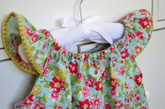 Toddler dress Flutter baby dress Seaside by BlueKangarooHandmade