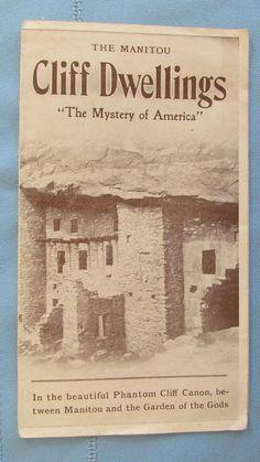 Original Manitou Cliff Dwellings Colorado Tourist Brochure-Manitou Springs-Tewa