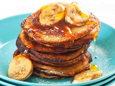 Amerikkalaiset banaanipannarit Fast Metabolism, Plant Based Diet, Healthy Cooking, Pancakes, French Toast, Breakfast, Desserts, Recipes, Food