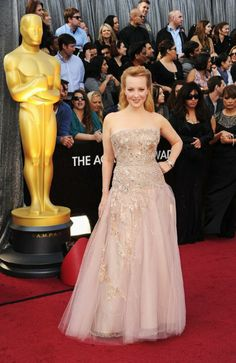 Pattern A-line Strapless Floor-length Evening Dresses Inspired by Wendi McLendon-Covey at OSCAR Oscar Dresses, Blush Dresses, Evening Dresses, Pretty Dresses, Prom Dresses, Green Dress, Pink Dress, Lace Dress, Armani Prive
