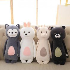Cheap toy pillow, Buy Quality rabbit doll directly from China toy soft Suppliers: Cute Plush Bunny Fox Bear Cow Toys Pillow Plush Toys Soft Stuffed Animal Rabbit Dolls Baby Kids Gifts Brinquedos Rabbit Toys, Bunny Toys, Bunny Plush, Cute Small Animals, Cute Stuffed Animals, Kawaii Plush, Cute Plush, Birthday Gifts For Kids, Kids Gifts