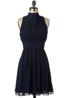 I love this dress. So simple. Add a great pair of shoes and some signature jewelry pieces, n you're all set!