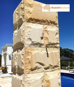 Aussietecture natural stone supplier has a unique range natural stone products for walling, flooring & landscaping. Natural Stone Wall, Natural Stones, Sandstone Cladding, Stone Supplier, Stone Masonry, Australian Architecture, Wall Cladding, Stone Houses, Stone Work
