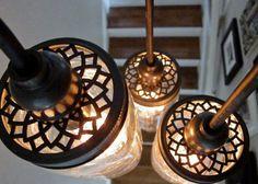Custom Aluminum Lids For Mason Jar Pendant Lighting & Chandeliers, Includes Compatible Phenolic Lamp Sockets