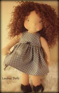 "Waldorf Inspired Doll called Mia , 18"" tall by LoubeeDolls on Etsy https://www.etsy.com/listing/268423017/waldorf-inspired-doll-called-mia-18-tall"