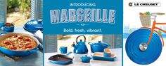 Wow! Bold, fresh, vibrant and truly awe-inspiring. A wonderful new colour range Marseille by Le Creuset!