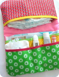 """Pocket diaper """"Collection POP FOLK"""" - for diapers and wipes - Best Sewing Tips Diy Sewing Projects, Sewing Hacks, Sewing Tips, Baby Couture, Baby Sewing, Baby Quilts, Baby Shower, Couches, Kids"""