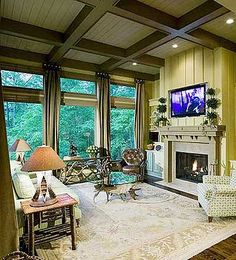 Plan W15662GE- architecturaldesigns   keeping room in plan.  i would make this our cozy living and tv room