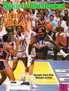 VINTAGE SPORTS ILLUSTRATED JULY 1984 OLYMPIC MICHAEL JORDAN CHICAGO BULLS COVER