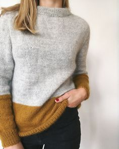 Contrast Pullover Contrast Pullover Contrast Pullover Contrast Pullover History of Knitting Yarn rotating, weaving and sewing jobs such as . Look Kimono, Raglan Pullover, Work Tops, Looks Style, Mode Style, Sweater Weather, Pulls, Ravelry, Knit Crochet