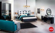 الحياة الزوجية تبدأ من الحياة ببيت مشترك, ومن غرفة مشتركة مثل هذه الغرفة الجميلة بألوانها! #ميداس #غرف_نوم #السعودية #الكويت #قطر