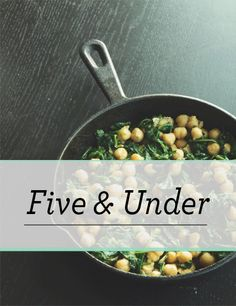 Introducing Five & Under - easy vegan recipes all five ingredients and or less! | The Collegiate Vegan