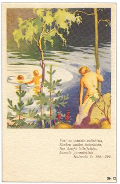 Martta Wendelin was a Finnish artist whose work was widely used to illustrate fairy tales and books, postcards, school books, magazine and book covers. Girl Face Drawing, Pretty Drawings, School Posters, Old Paintings, Indigenous Art, Vintage Ads, Martini, Finland, Illustrations Posters