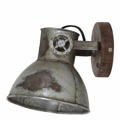 Light&Living Wandlamp Elay hout bruin industrieel 18 x 20 x 19 - Our first house together - Industrial Living, Decorative Bells, Wall Sconces, Wall Lights, Brown, Interior Design, Wood, Home Decor, Bap