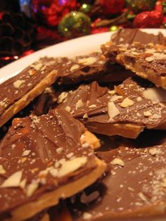 English Toffee - It's awesome... buttery, crunchy, with a thick layer of milk chocolate...it's melt in your mouth good!