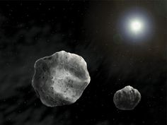 NASA Radar Images of Approaching Asteroid 1998 QE2 shows it has a Moon May 31, 2013 Asteroid 1998 QE2 revealed to be Binary Asteroid. Artist Rendition. (NASA)