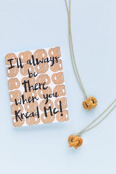 DIY Pretzel Friendship Necklaces
