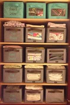 Awesome linen closet organization using the Your Way Collection from Thirty-One https://www.mythirtyone.com/67231