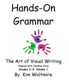 Hands on Grammar - Volume 1 — Visual Creative Classroom Literacy Grammar Skills, Teaching Grammar, Grammar Lessons, Booklet, Language Arts, Literacy, Have Fun, Core, Classroom