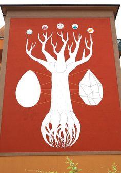 """Italiano cria arte de rua que absorve a poluição presente no ar. Trata-se da """"Philosophical Tree"""", uma árvore de quase 18 metros que tenta mostrar a importância da arte de rua para a sociedade."""