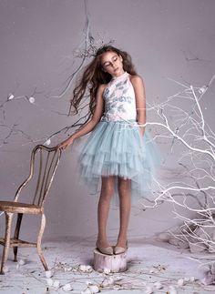 Tutu Du Monde Enchanted Goddess Tutu Dress in Ivy – Hello Alyss - Designer Children's Fashion Boutique Girly Girl Outfits, Cute Girl Dresses, Tutu Outfits, Pretty Dresses, Beautiful Dresses, Flower Girl Dresses, Tutu Dresses, Fairy Costume For Girl, Fairy Costumes