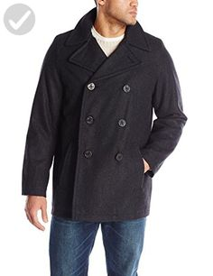 Tommy Hilfiger Men's Big-Tall Classic Peacoat, Charcoal, Large/Tall - Mens world (*Amazon Partner-Link)