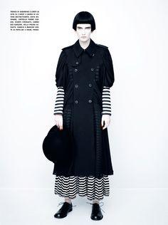 Editorial | 'Dots/Stripes/Black/White' Valerija Kelava by Paolo Roversi for Vogue Italia February 2011
