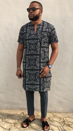 Latest African native wears for men - DarlingNaija Latest African Wear For Men, Latest African Men Fashion, African Shirts For Men, Nigerian Men Fashion, African Dresses Men, African Attire For Men, African Clothing For Men, Mens Fashion, Dashiki For Men