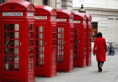 Classic red phone boxes for sale - but to buy one it will set you back £2,000 (Copyright: PA)